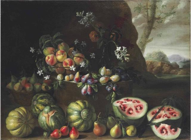 Giovanni Stanchi reneszánsz festményén a jobb alsó sarokban görögdinnye látható.